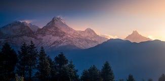 Intervalle de montagne d'Annapurna Image libre de droits