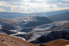 Intervalle de montagne de l'hiver Images libres de droits