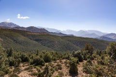 intervalle de montagne du Maroc d'atlas Images stock