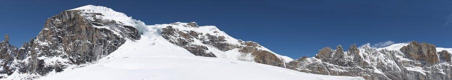 intervalle de panorama du Népal de montagne de l'Himalaya Images libres de droits