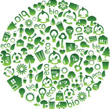 Intervalle des graphismes d'eco Photos libres de droits