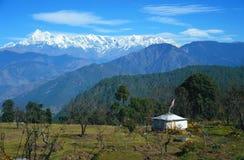 Intervalles de l'Himalaya Kausani Inde uttranchal Photographie stock