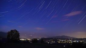 Intervallo blu della stella del cielo notturno video d archivio