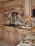 Intervallo del granito della cucina e disegno del cappuccio Fotografie Stock Libere da Diritti