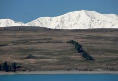 Intervallo del lago Pukaki e di Tekapo, Nuova Zelanda Immagini Stock Libere da Diritti
