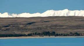 Intervallo del lago Pukaki e di Tekapo, Nuova Zelanda Fotografia Stock Libera da Diritti