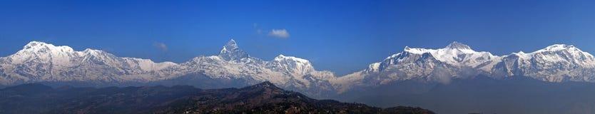 Intervallo di Annapurna: Panorama fotografia stock