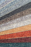 Intervallo di colore dei campioni della moquette Immagini Stock