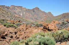Intervallo di Las Canadas del Teide fotografia stock