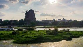 Intervallo di mattina al fiume di Li a Guilin Cina video d archivio