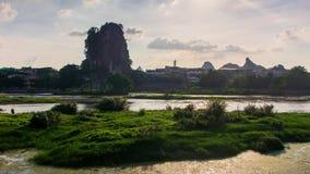 Intervallo di mattina al fiume di Li a Guilin Cina archivi video