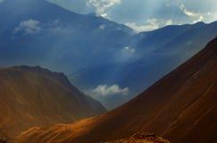 Intervallo di montagna alpino fotografie stock
