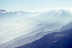 Intervallo di montagna alpino. La Svizzera Fotografia Stock Libera da Diritti