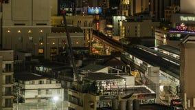 Intervallo di notte di trasporto, di costruzione e della palestra stock footage