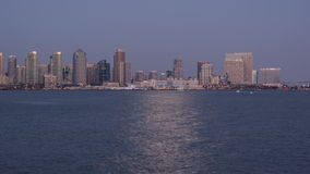 Intervallo di San Diego City Skyline Sunset Time video d archivio