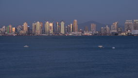 Intervallo di San Diego City Skyline Sunset Time video d archivio