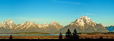 Intervallo di Teton all'alba Fotografie Stock