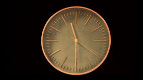 Intervallo moderno di periodo di digiuno del fronte di orologio video d archivio