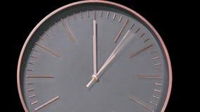 Intervallo moderno di periodo di digiuno del fronte di orologio archivi video