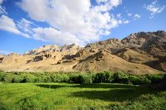 Intervallo verde, dell'azzurro e di montagna Fotografia Stock Libera da Diritti