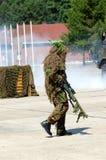 Intervenção militar, solda camuflada. imagens de stock royalty free