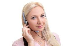 Intervenant du service client attrayant Photo libre de droits