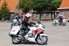 Intervención de la policía militar Foto de archivo libre de regalías