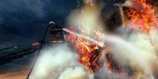 Intervention du feu Photographie stock