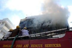 Intervention du feu Photo stock