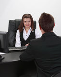 The interview Stock Images