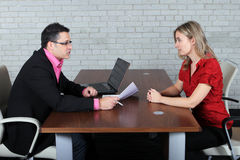 The interview Royalty Free Stock Photos