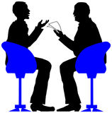 Interview. Exciting job interview. Vector Illustration royalty free illustration