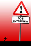 Interview. Preparing well and going to a job interview Royalty Free Stock Images