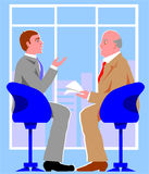 Interview. Two gentlemen talks about business matters Royalty Free Stock Photo