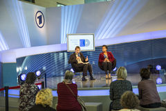Interview at the ARD meeting point at the Frankfurt Book Fair 2014 Royalty Free Stock Photography