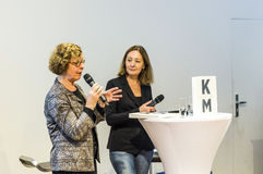 Interview with Barbara Klemm at the Frankfurt Book Fair 2014 Royalty Free Stock Photo