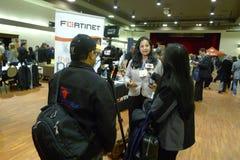 Interview bei Job Fair in Vancouver Lizenzfreies Stockfoto