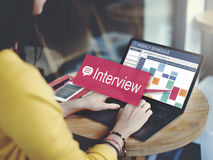 Interview-Bewertung Job Interview Question Concept Lizenzfreies Stockbild