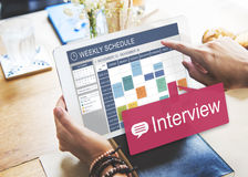 Interview-Bewertung Job Interview Question Concept Stockfotos