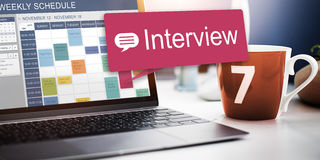 Interview-Bewertung Job Interview Question Concept Stockfoto