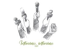 Interview concept. Hand drawn vector. royalty free illustration