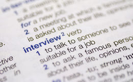 Interview word definition Royalty Free Stock Photos