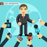 Interview illustration Royalty Free Stock Photos