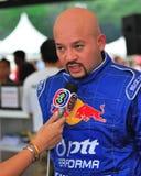 Interview with Kiki at Formula Drift 2010 Royalty Free Stock Photo