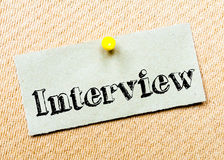 Interview Message Royalty Free Stock Images