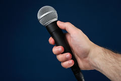 Interview with microphone Royalty Free Stock Image