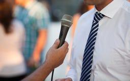 Interview mit einem Geschäftsmann Stockbild