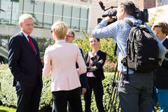 interview Nils Daniel Carl Bildt Royalty Free Stock Image