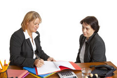 Interview in the office Stock Image