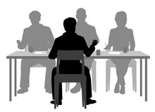 Interview panel Stock Photography